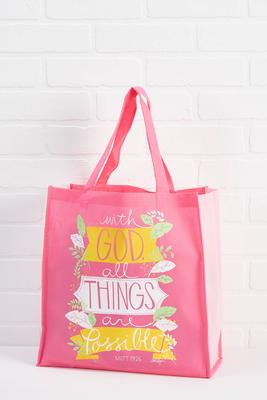 all things are possible reusable tote