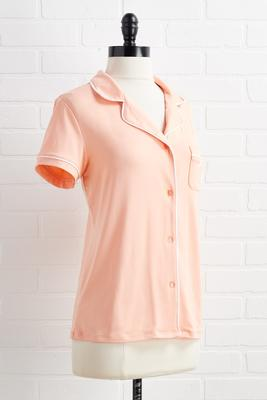 peach dreams sleep top