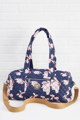 floral fabric sleepover bag