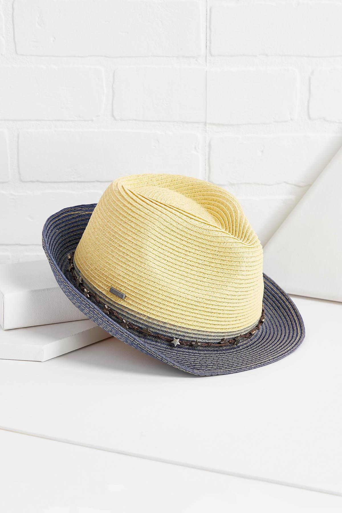 Star Trimmed Fedora Hat