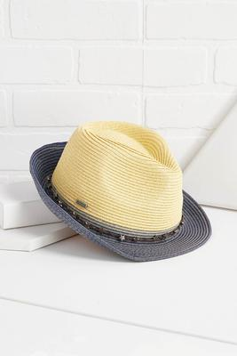 star trimmed fedora hat