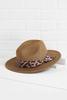 Leopard Band Fedora Hat