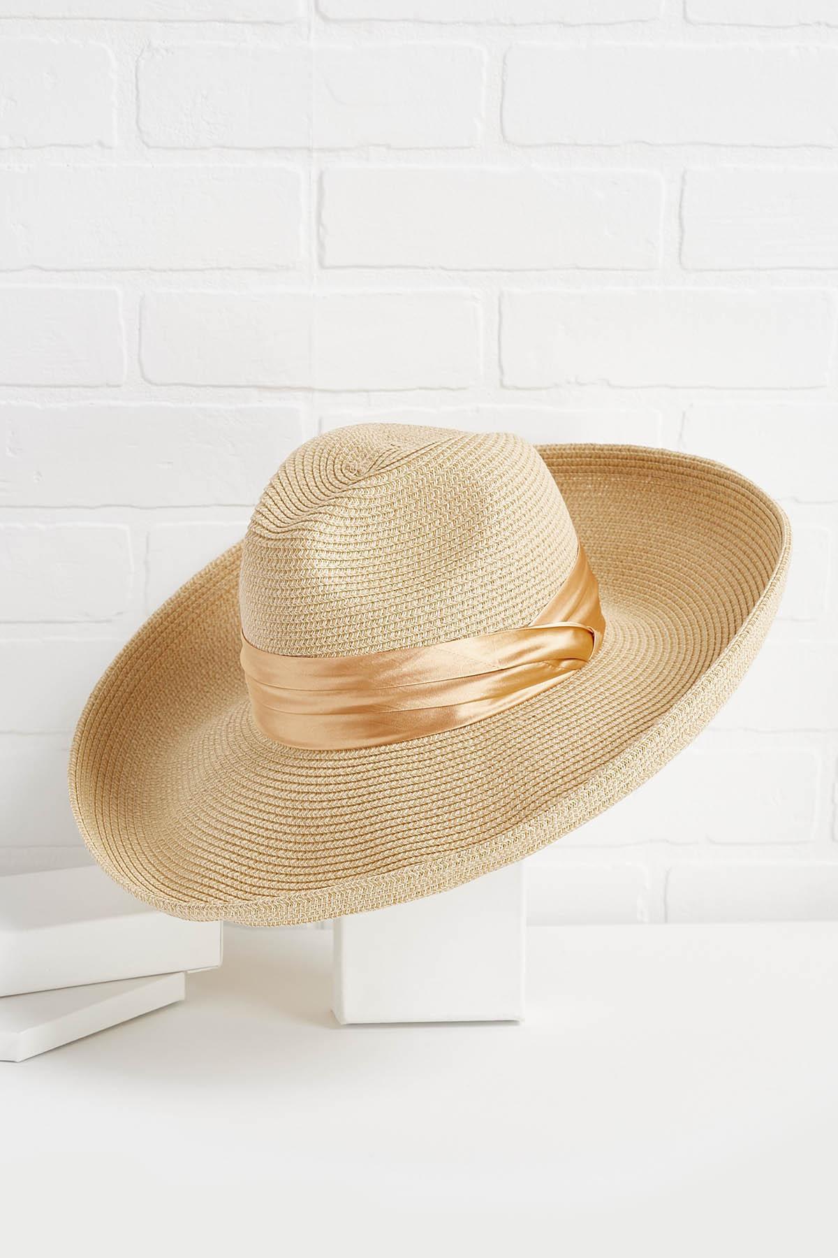 Satin Band Floppy Hat