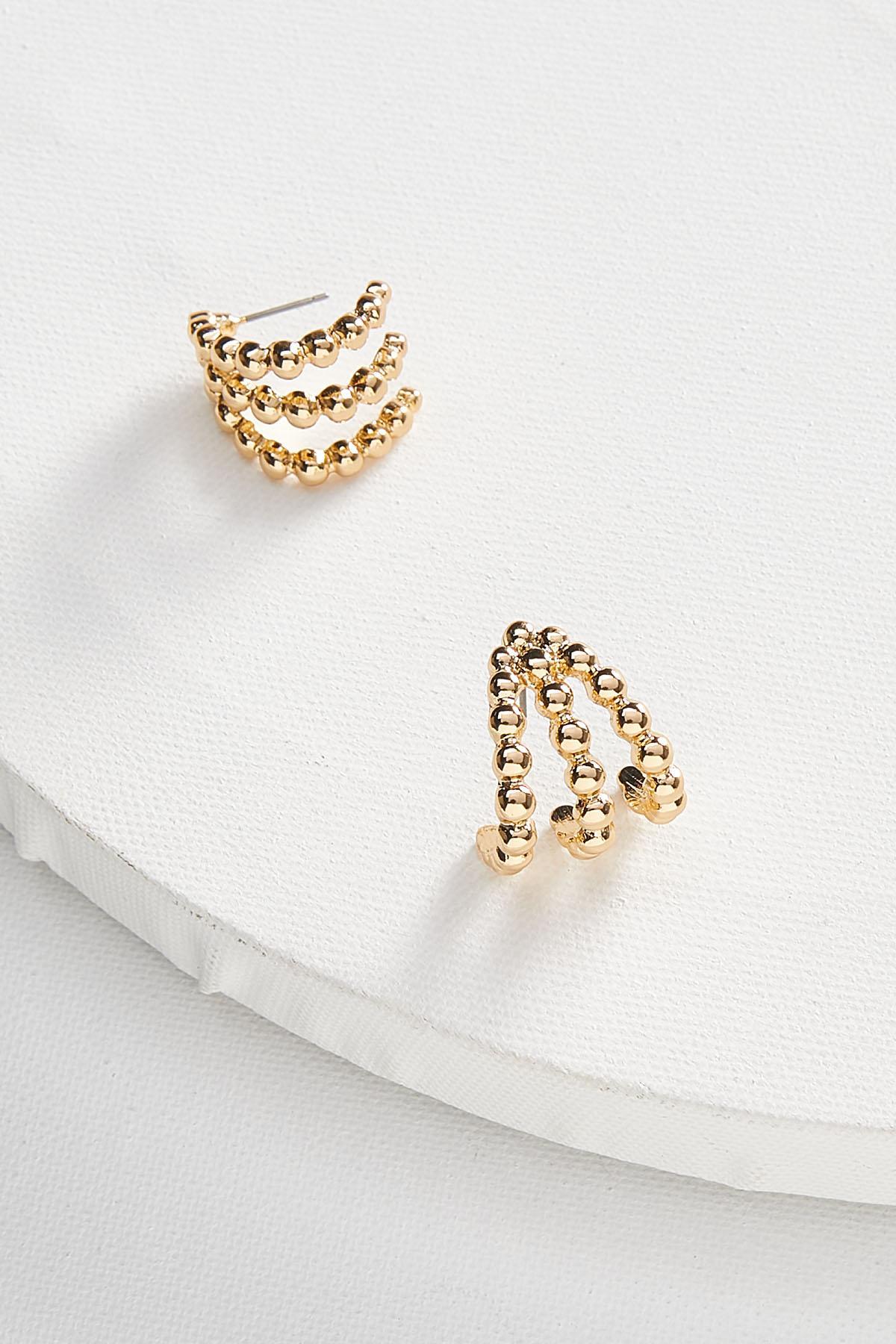 Beaded Trio Hoop Earrings