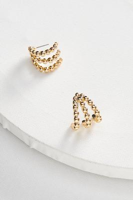beaded trio hoop earrings