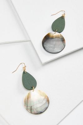 wood and shell earrings