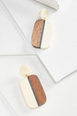 wooden lucite earrings