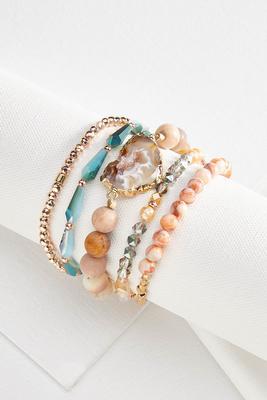 colorful beaded bracelet set