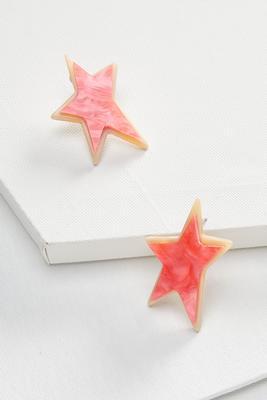 lucite leopard star earrings