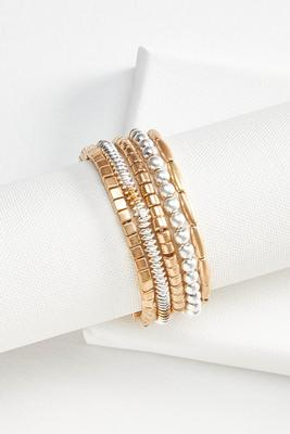 geo beaded bracelet set