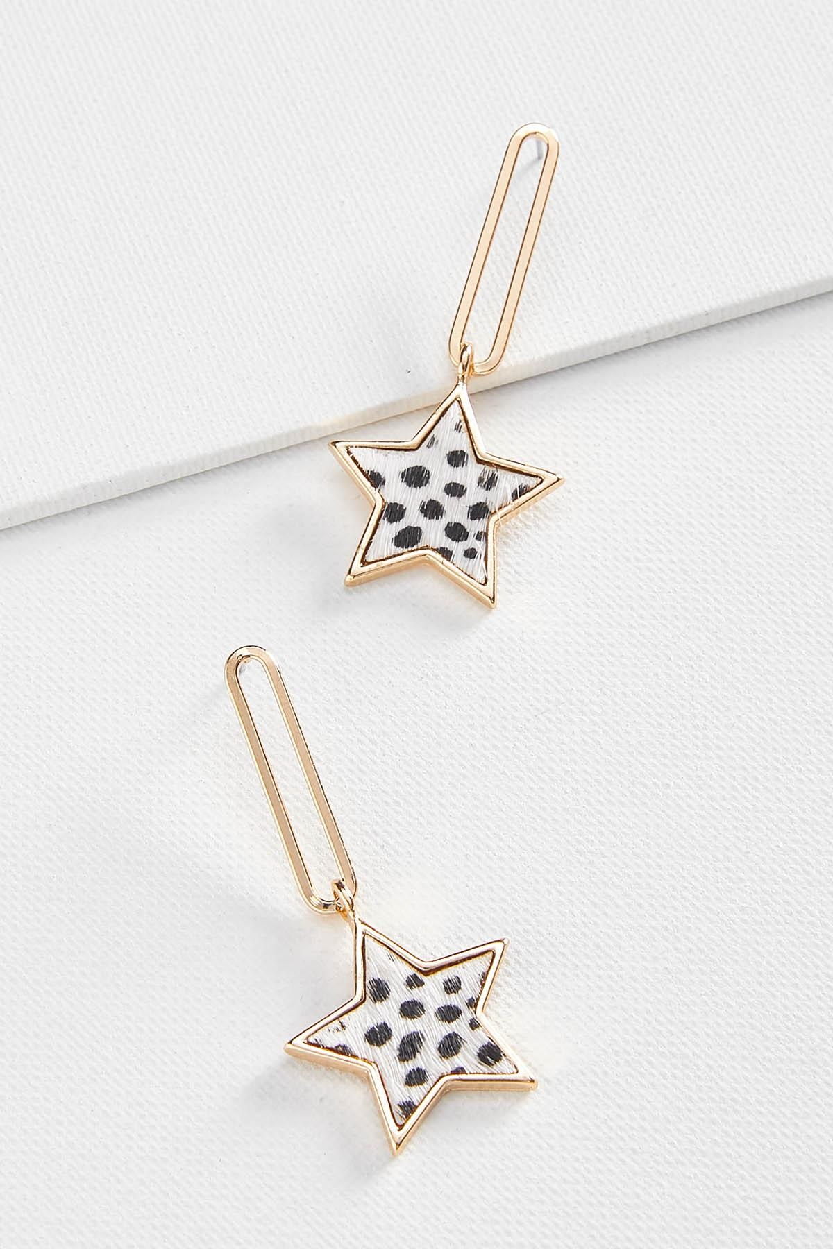 Spotted Star Earrings