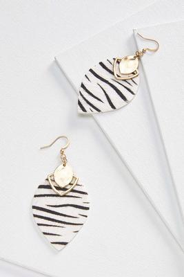 zebra tear earrings