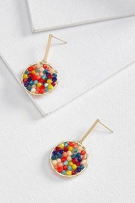 beaded geometric earrings
