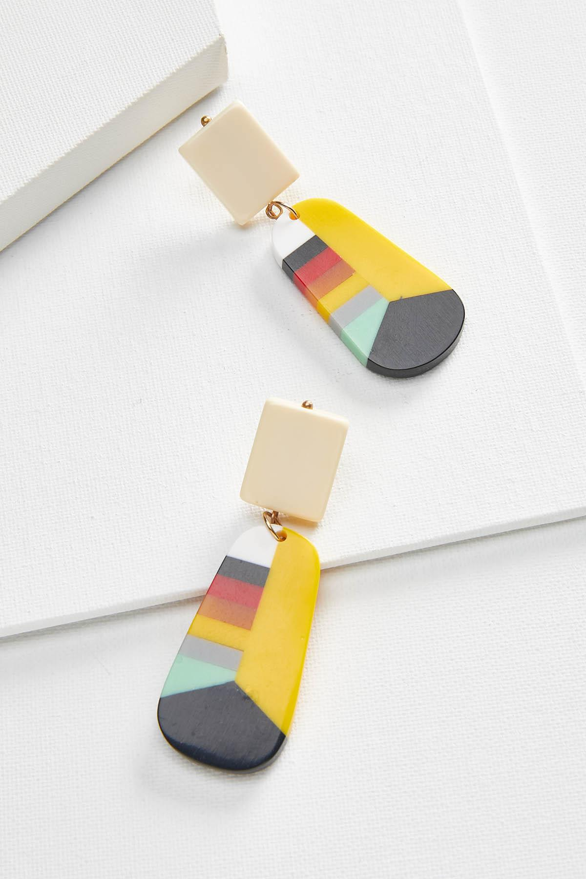 Colorful Resin Earrings