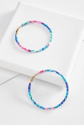 tropical hoop earrings
