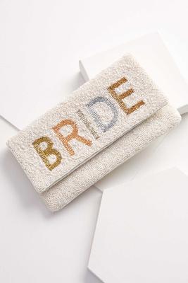 beaded bride clutch