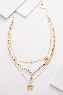 i am pendant necklace