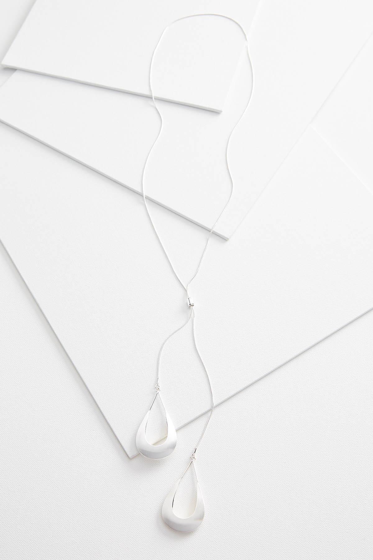 Open Tear Metal Necklace