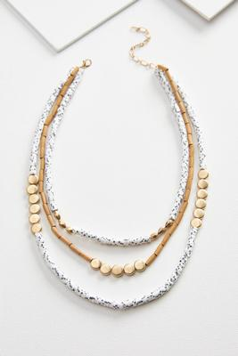 boho beaded necklace