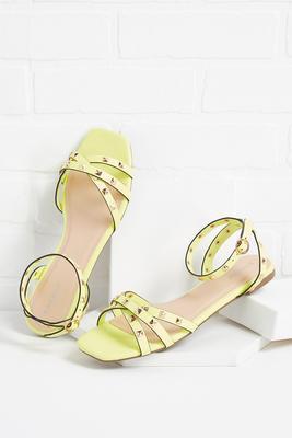 neon dreamin` sandals