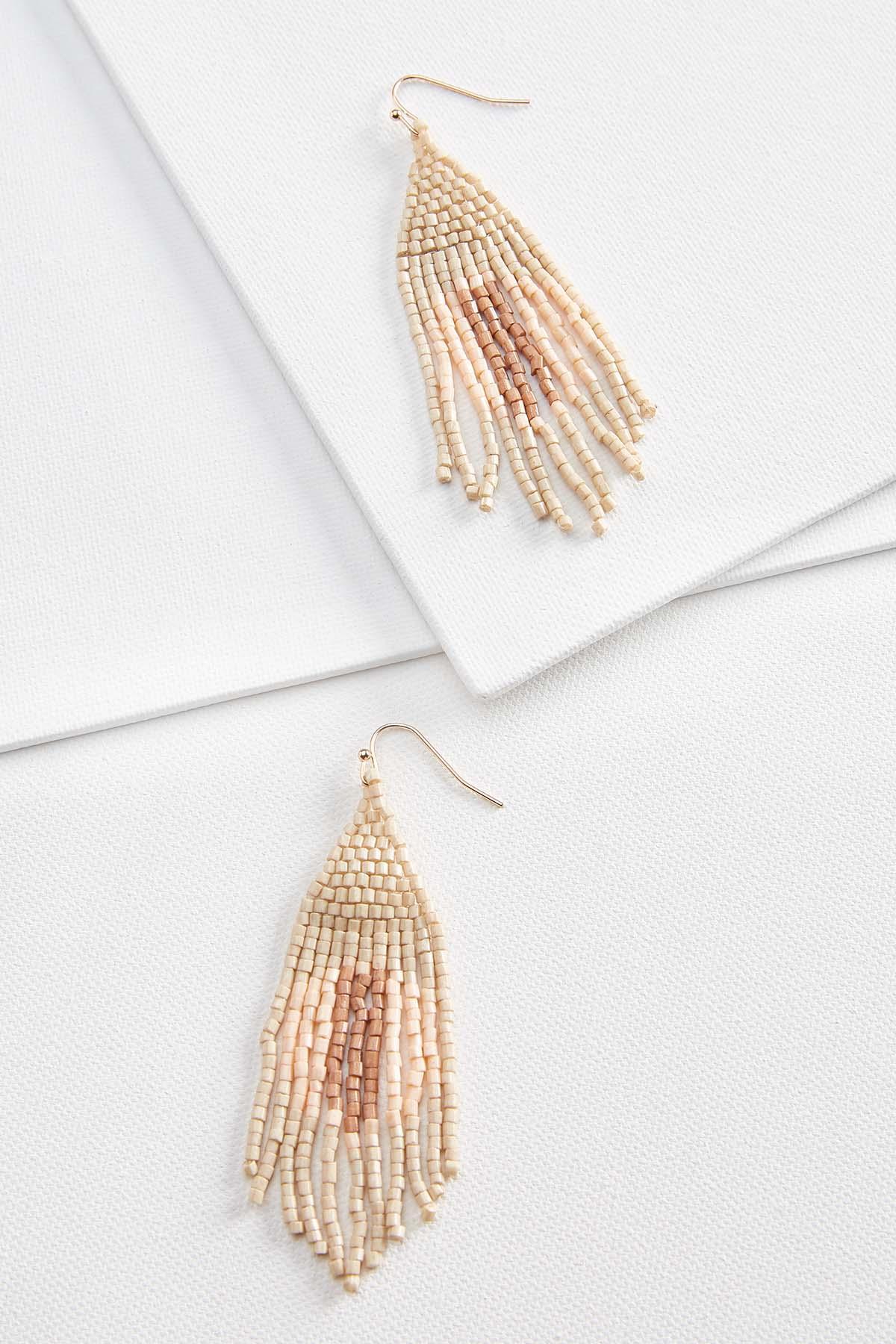 Neutral Fringed Earrings