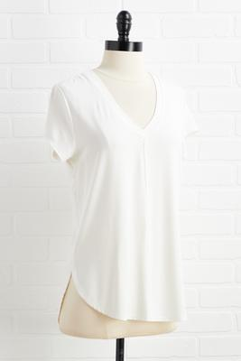 front and center seam top
