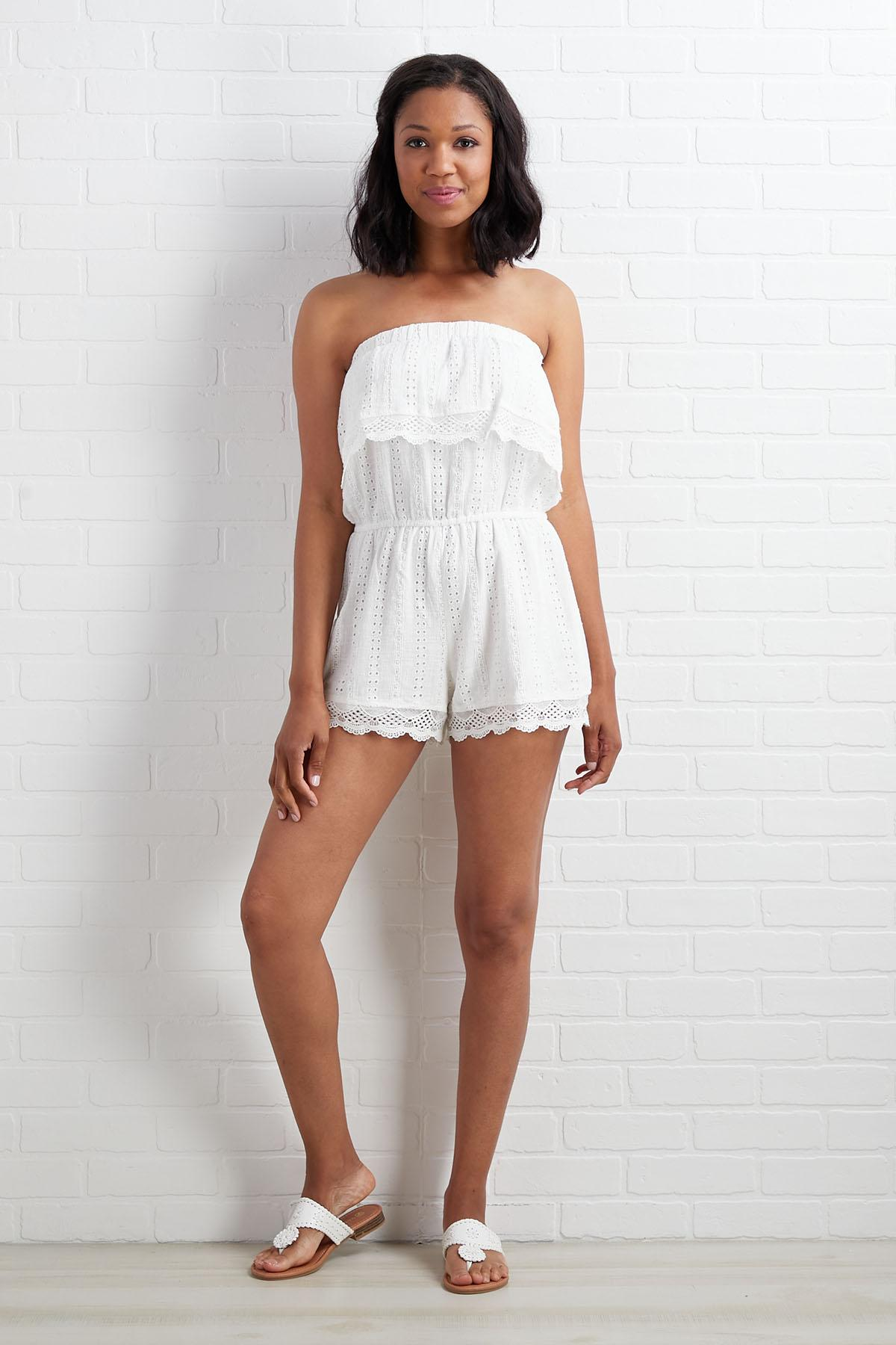 You And Eyelet Romper