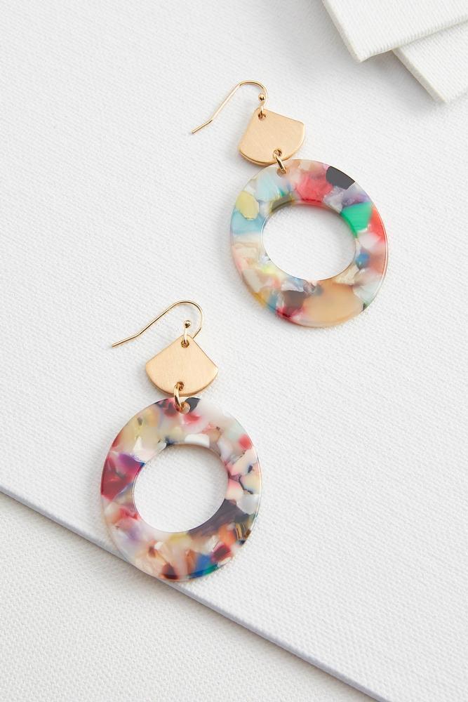 Lucite Oval Earrings
