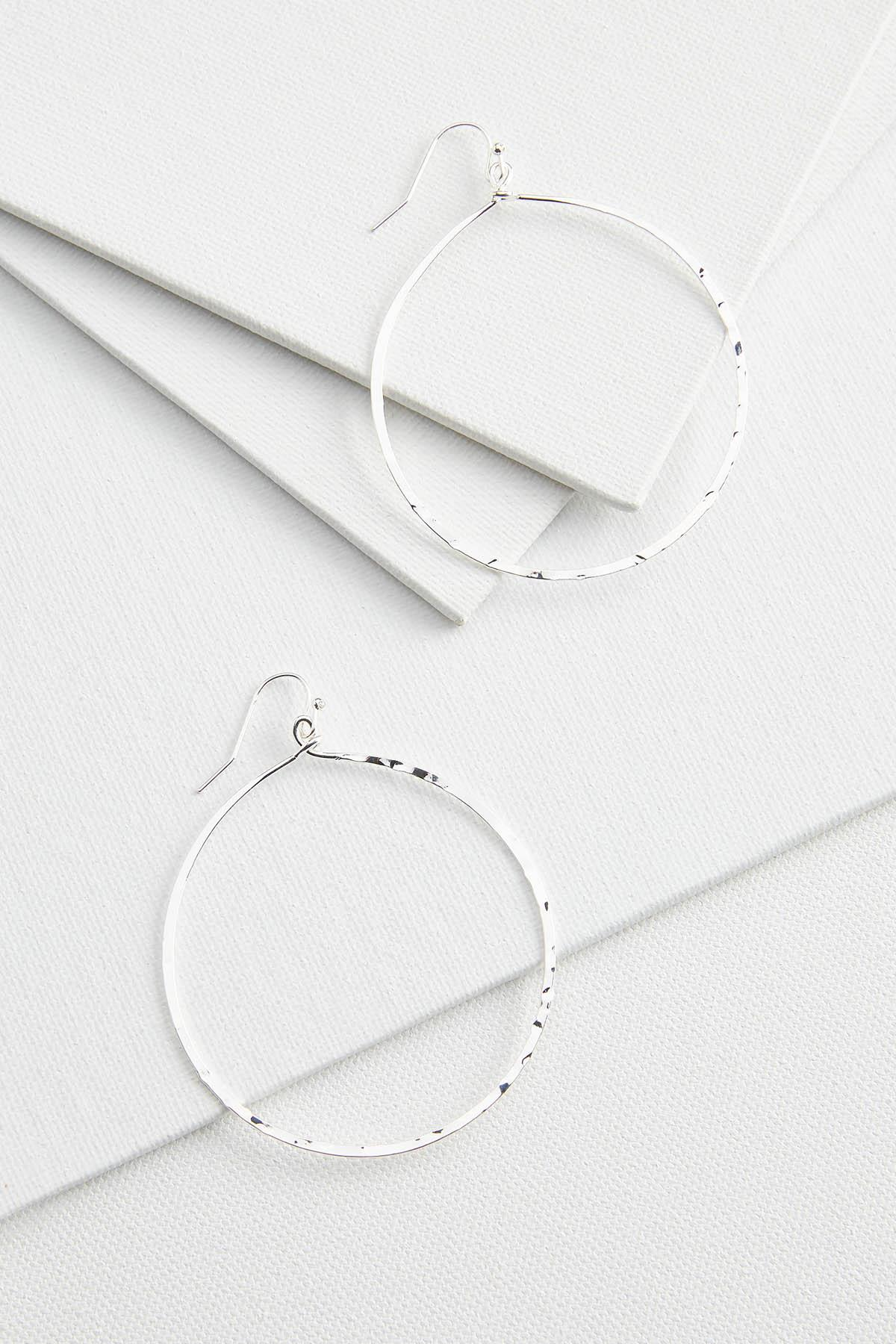 Rounded Hammered Earrings