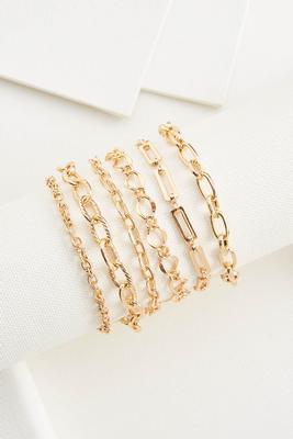 multi chain bracelet set
