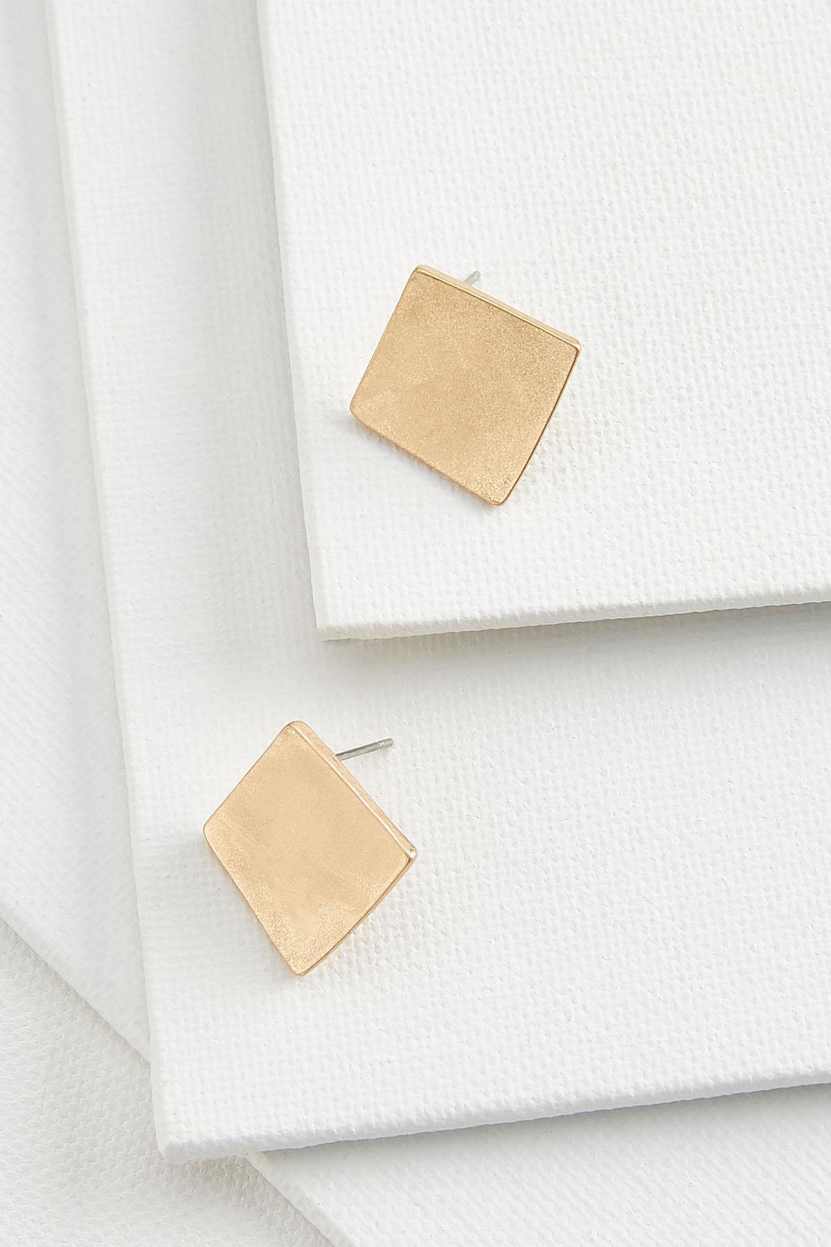 Wavy Square Earrings