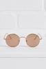 Rose Gold Round Sunglasses