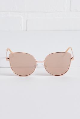mauve round sunglasses