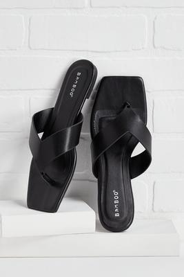 flight to any-square toe sandals