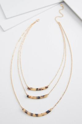 layered lucite necklace
