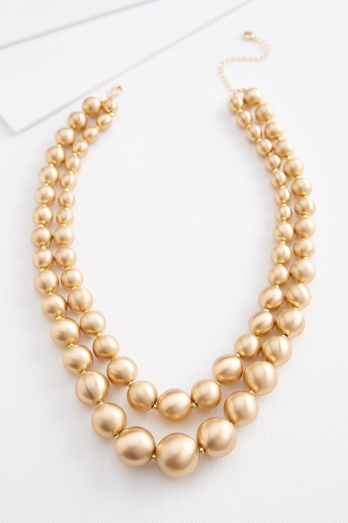 Brushed Beaded Necklace