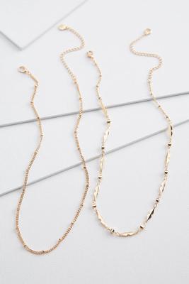layered chain choker necklace