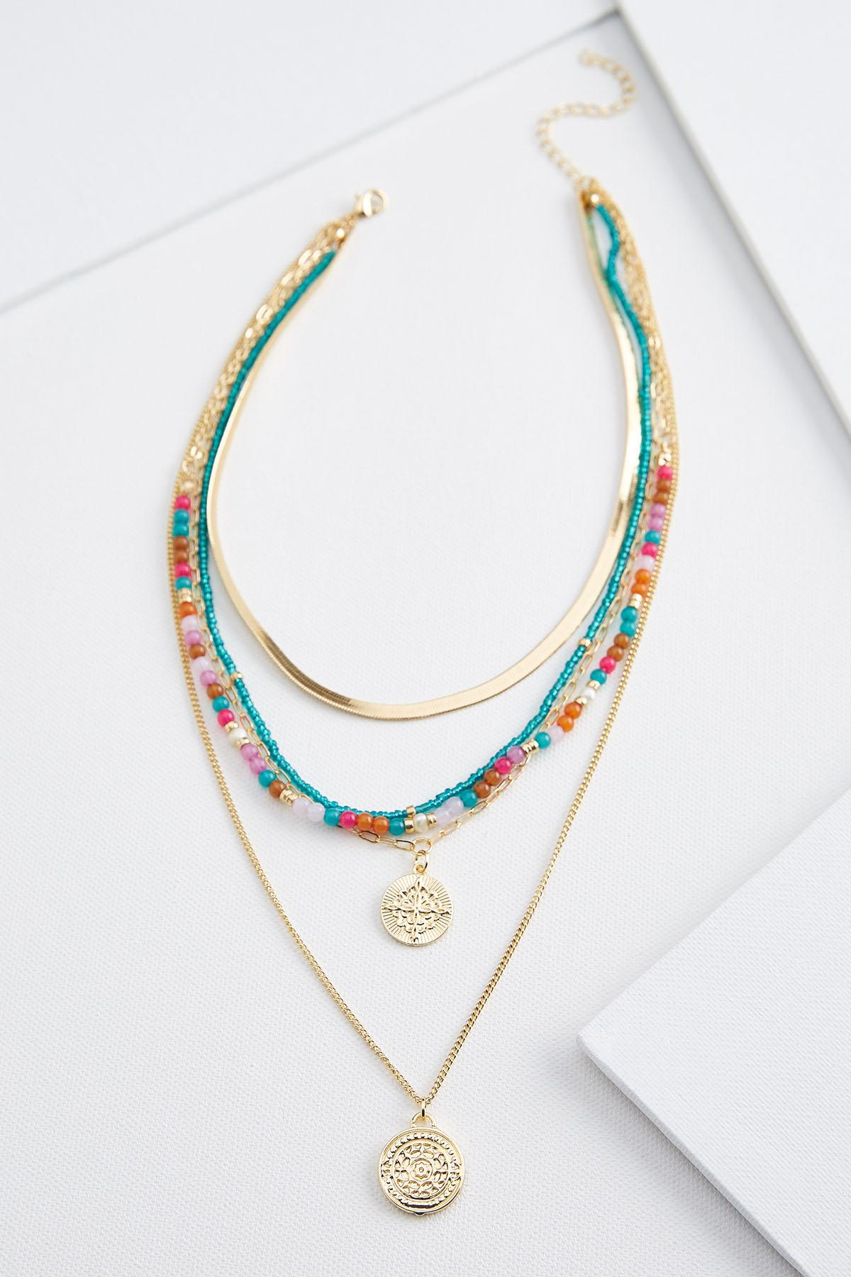 Colorful Coin Necklace
