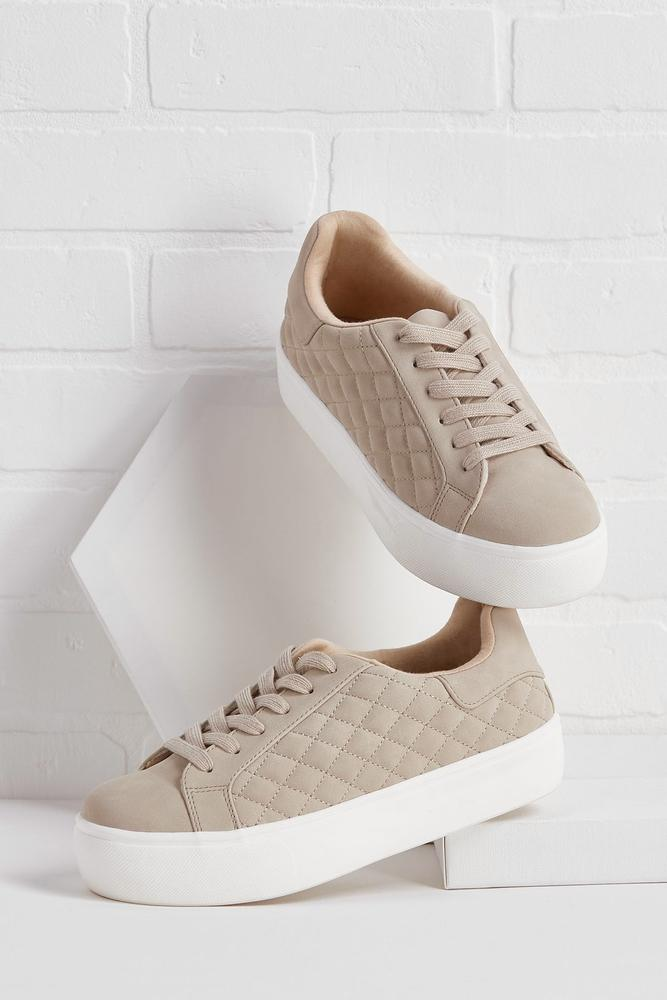 Quilted Platform Sneakers