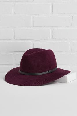 wine down panama hat