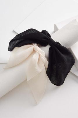 linen hair tie set