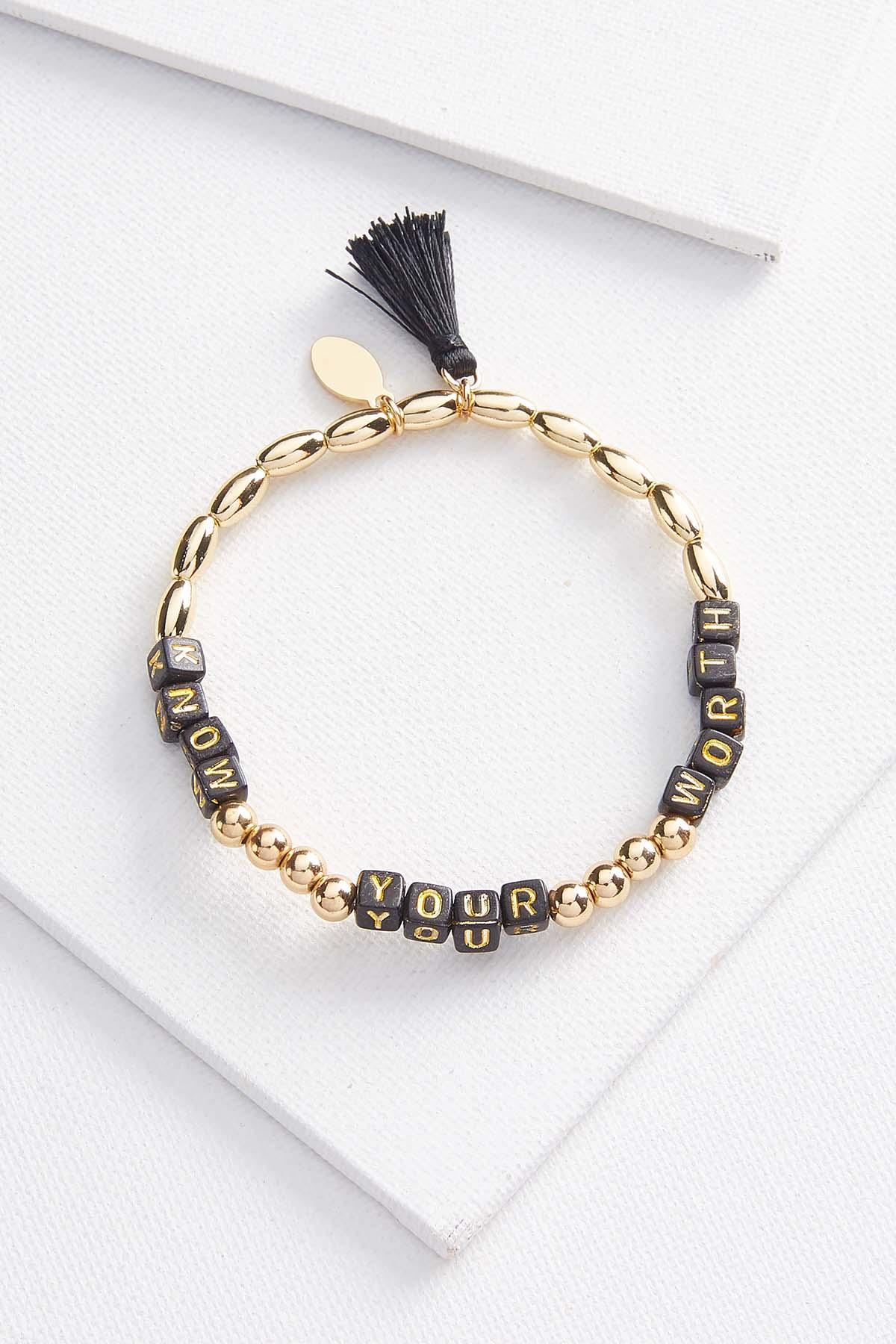 Worth Inspirational Bracelet