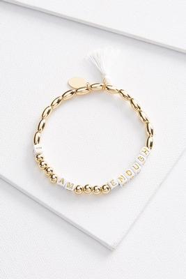 enough inspirational bracelet