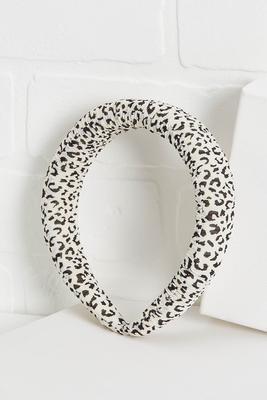 padded leopard headband