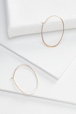 oblong thin hoop earrings