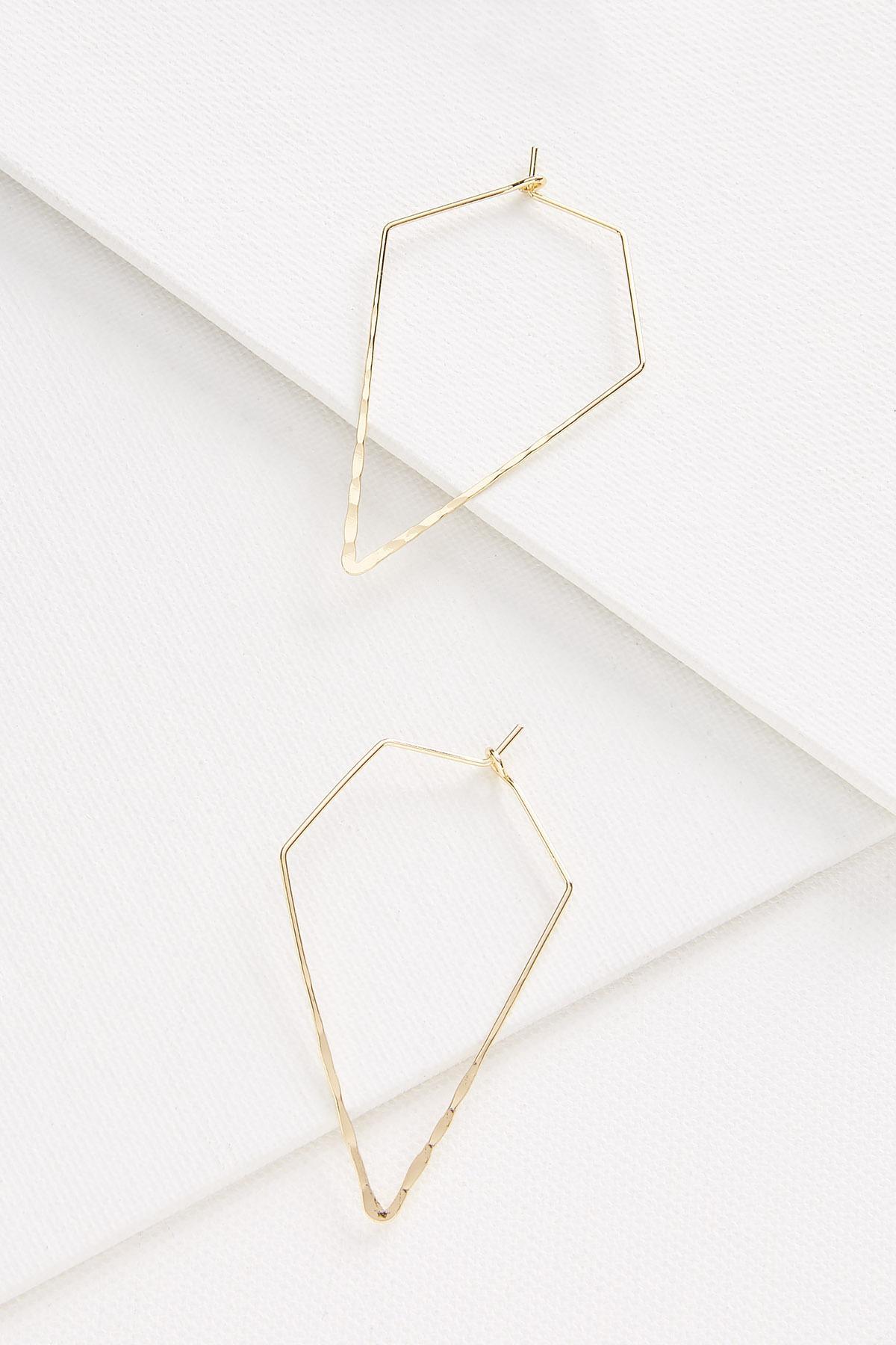 Triangular Metal Earrings