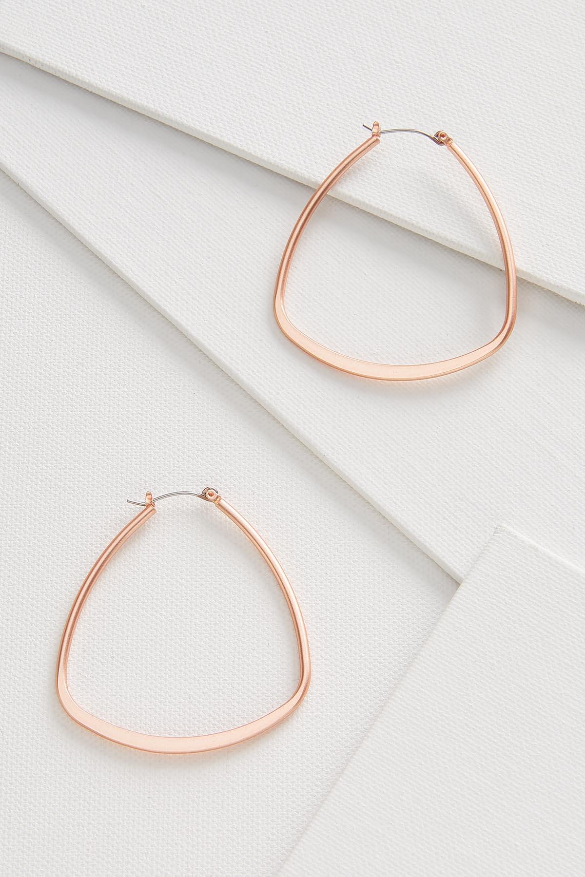 Triangular Hoop Earrings