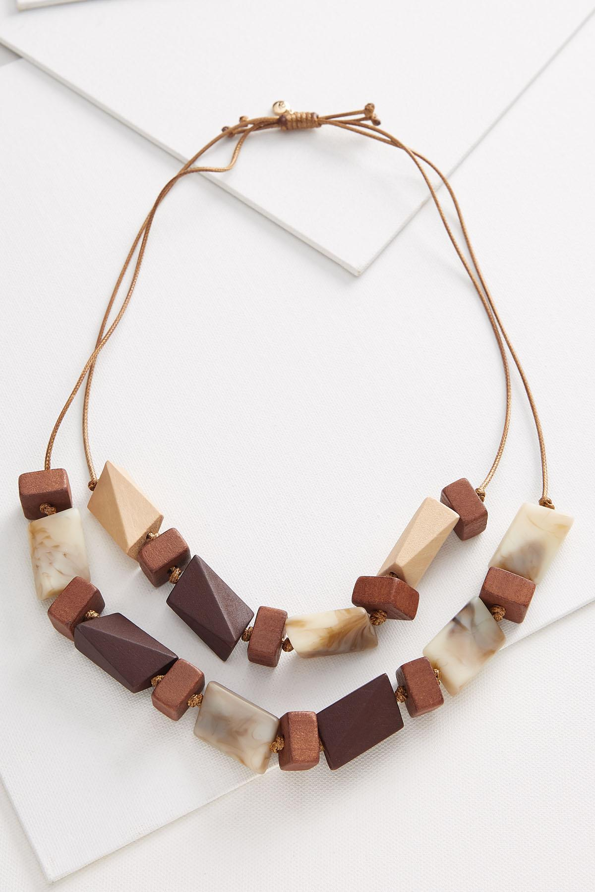 Layered Wooden Necklace