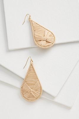 raffia tear earrings