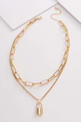linked locket necklace